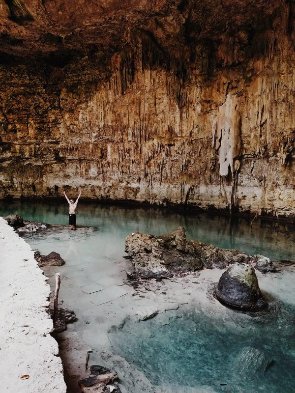 40 años México. Cenote Sacaua
