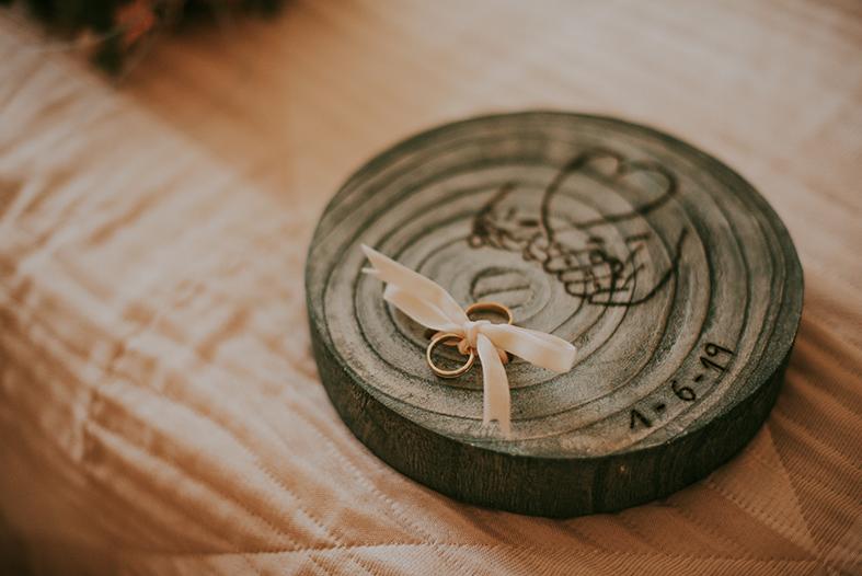 porta alianzas boda