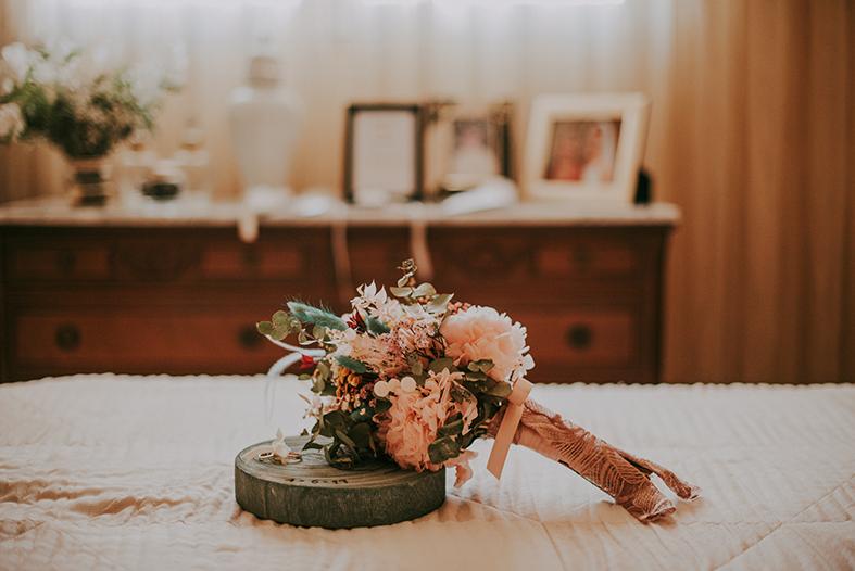 porta alianzas ramo novia